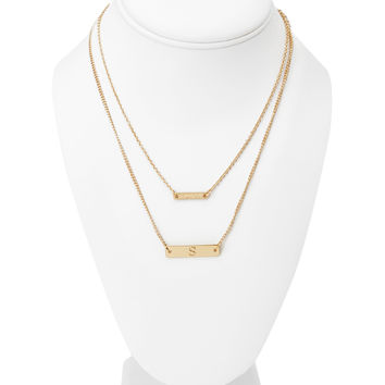S Initial Necklace Set