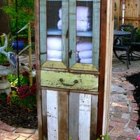 Reclaimed Wood Furniture Cabinet Handcrafted by honeystreasures