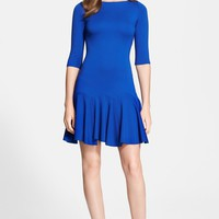 Halston Heritage Ponte Fit & Flare Dress