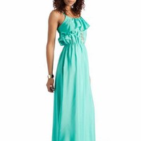 ruffle maxi dress &amp;#36;31.70 in MINT - Casual | GoJane.com
