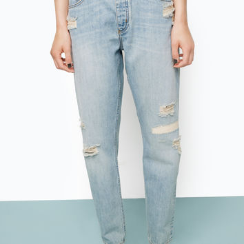 Imoo distressed | Denim mix | Monki.com