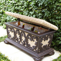 Leaf Scroll Bench Cooler - Neiman Marcus