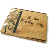 Wood Guest Book Wedding Rustic Book 10x12 by BillsWoodenPleasures
