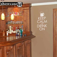 Keep Calm and Drink On Vinyl Wall Art FREE by showcase66 on Etsy