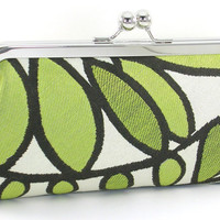 Green Leaves Clutch Handbag by BagBoy on Etsy