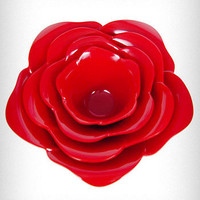 Red Rose Stacking Bowls Serving Set | PLASTICLAND