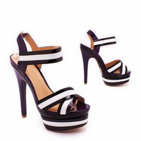 strappy patent heel in BLACK - Heels | GoJane.com