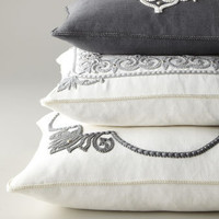 Ankasa Ivory & Gray Pillows - Neiman Marcus