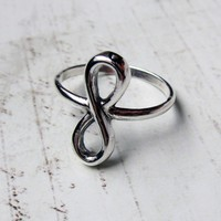 $42.00 Infinity ring recycled sterling silver by metalicious