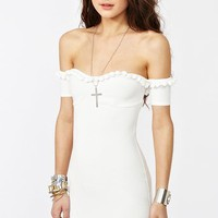 Caliente Dress in White