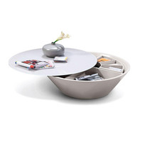 Saucer Storage Coffee Table
