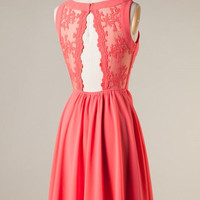 Alluring Dress - Coral - Hazel & Olive