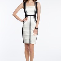 Satin Colorblock Dress