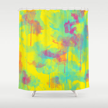 Summer Watercolors Shower Curtain by eDrawings38 | Society6