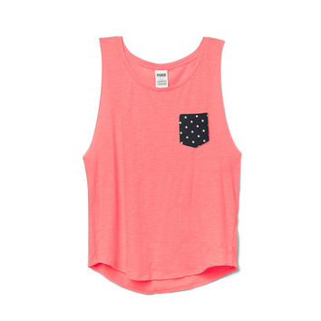 Boyfriend Pocket Tank  PINK  Victoriax27s Secret