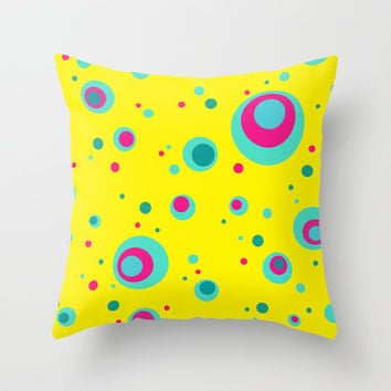 Summer Bubbles Throw Pillow by eDrawings38 | Society6