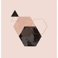 Geometric Copper Foil Print | LEIF