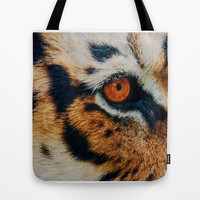 TIGER PURRSPECTIVE Tote Bag by Catspaws   Society6