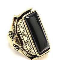 Amrita Singh Cary Ring in Black