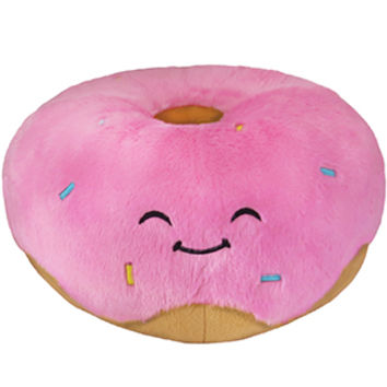 Squishable Pink Donut An Adorable Fuzzy Plush to Snurfle