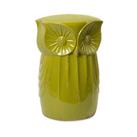 Kiwi Green Owl Garden Stool - Garden Wedding and Event Decor