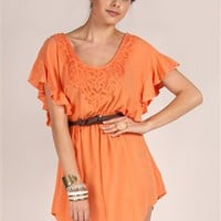 Lady Marmalade Ruffle Dress - S1D3666Y40 - Cantaloupe