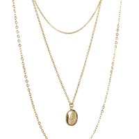 ASOS Multi Row Disc Necklace