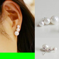 Trinity Pearl String Earrings