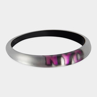 Thin Tapered Graffiti Lucite Bangle