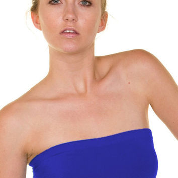 Essential Seamless Bandeau Tube Top (Royal Blue) | Verona