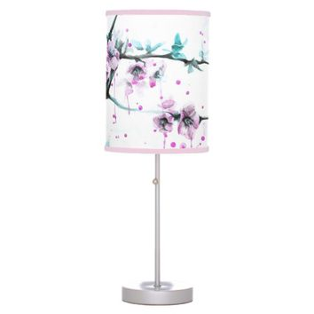 Spring flowers blossoms pink Table lamp