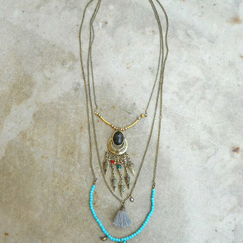 Thread and River Tassel Necklace : Vintage Inspired Clothing & Affordable Dresses, deloom | Modern. Vintage. Crafted.