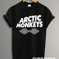 arctic monkeys shirt the arctic monkeys t-shirt printed black and white unisex size (CR-5)