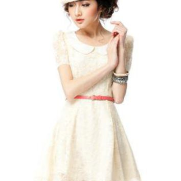 Black Cocktail Dress - Retro Slim lace dress White | UsTrendy