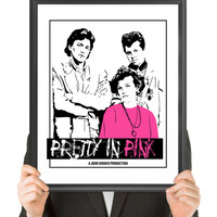 Pretty In Pink, Vintage Movie Poster, Fine Art Print