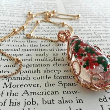 Candy Jewelry - Kid's Jewelry -  Christmas Jewelry - Children's Jewelry - Copper Necklace -  Sprinkle Jewelry - Kawaii Necklace - Cute