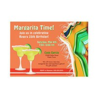 Chic and Contemporary Margarita Party Personalized Invitations from Zazzle.com