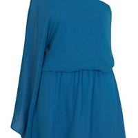 Blue One Shoulder Dress - Going Out Dresses - Dresses - Miss Selfridge