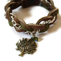 Boho Chic Braided Bracelet - Tree Charm | Luulla