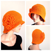 Crochet Cloche. 1920s High Fashion Inspired Hat.