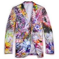 Glamour Mens Colorful Creative Blazer