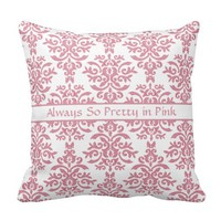 Pretty in Pink Elegant Damask Girl's Bedroom