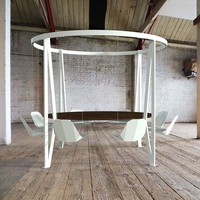 The King Arthur, Round Swing Table - Duffy London