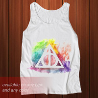 harry potter deathly hallows Tanktop Casual Wear Sporty Cool Tank top Funny Tank Cute Direct to garment