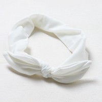 AEO Women's White Bow Headband (White)