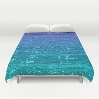 SEA SPARKLE Duvet Cover by Catspaws | Society6