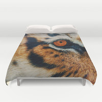 TIGER PURRSPECTIVE Duvet Cover by Catspaws | Society6