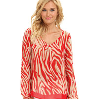 Brigitte Bailey Print Long Sleeve Top