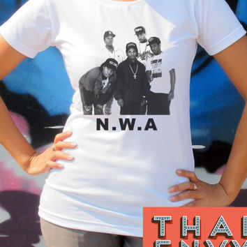 NWA Womens T Shirt - Hip Hop Gangsta Rap Music T Shirts & Tanks