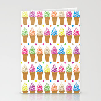 Ice Cream Stationery Cards by Ornaart